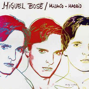 Pochette pour l'album Milano-Madrid de Miguel Bosé