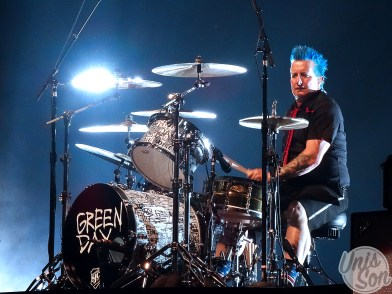 Tré Cool (Green Day), at Rockhal, 12/06/2017. (photos: Léa Fochesato)