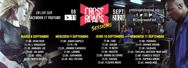 Lineup Crossroads 2020 Facebook
