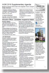 AGM 16 Supplementary agenda