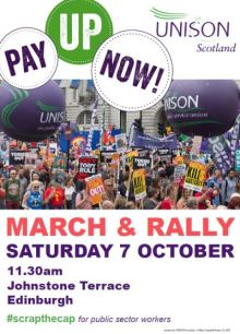 Pay Up Now rally