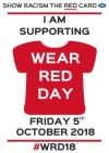 Wear Red Day 5 October 2018 - Show Racism The Red Card