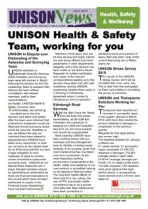 thumbnail of Health & Safety June