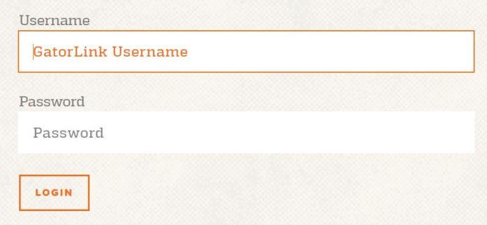 UF Canvas login page screenshot