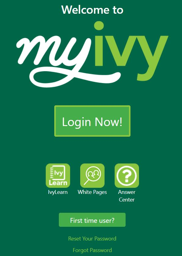 myivy login page