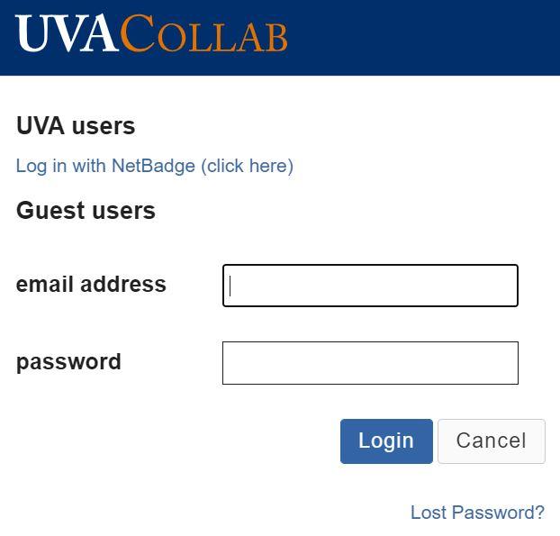 UVA Collab login