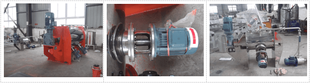 Colter type mixer motor