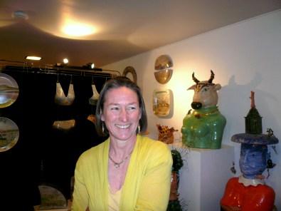 Tuppy in her studio/showroom