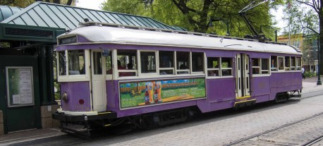 This paint job is straight out of the 60's. San Francisco needs this trolley.