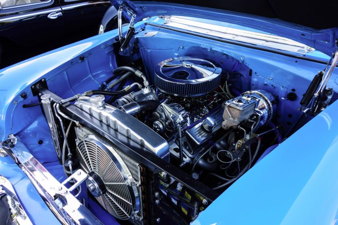 This engine compartment is a work of modern art
