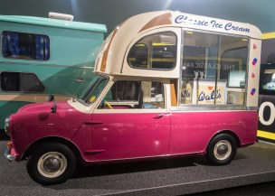 A tiny ice cream store on wheels