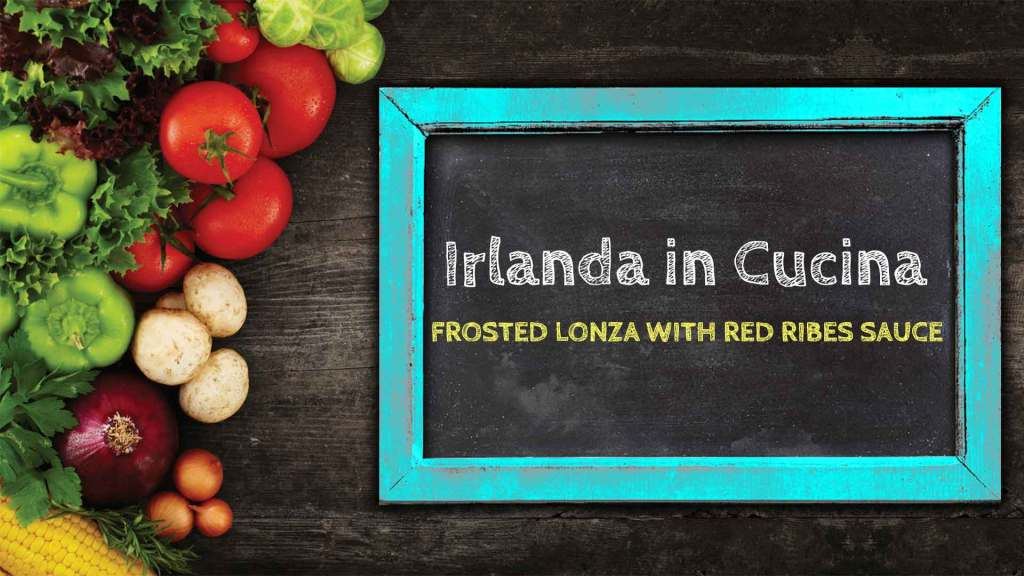 FROSTED LONZA WITH RED RIBES SAUCE