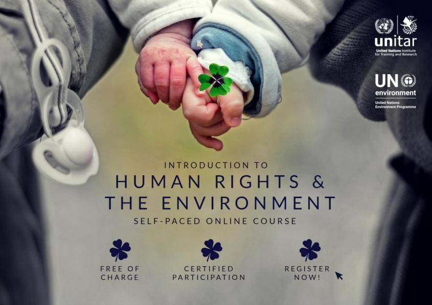 Human Rights and the Environment - free online course