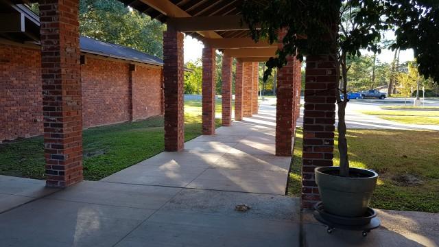 Outdoor walkway made of brick