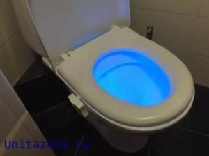 синяя подсветка для унитаза