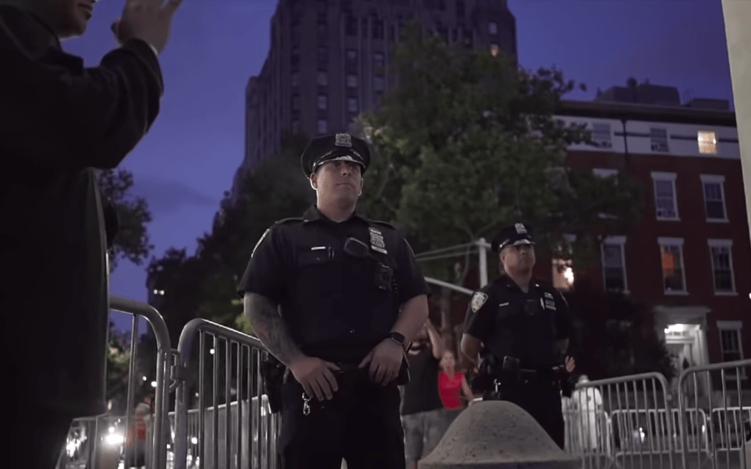 VIDEO: Christians Pray Over NYPD Police Officers During Worship Event