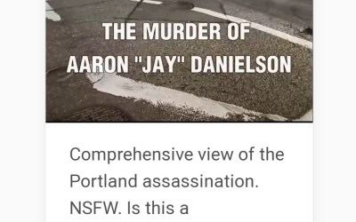 "7 Min. Long Film Before Shooting Death of Patriot Prayer Member Leaves Many Questions About ""Kill Box""-You Decide"