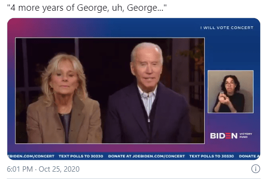 """Biden Appears to Have Called Trump """"George"""" During Live Interview"""
