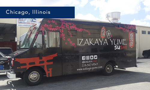 Chicago, Ilinois Izakaya Yume Sushi Foodtruck by united food trucks miami