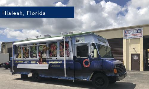 Lanchitas Food Truck on Hialeah florida Foodtruck builder by United Food truck