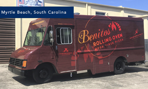 Myrtle Beach, South Carolina Benitos rolling oven by united Food Truck