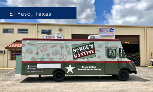 Sarge´s Kantine el paso texas Food Truck