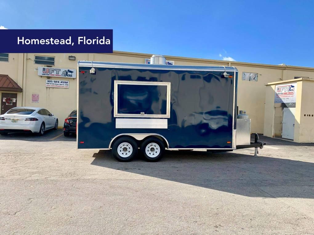 bbq trailer blue