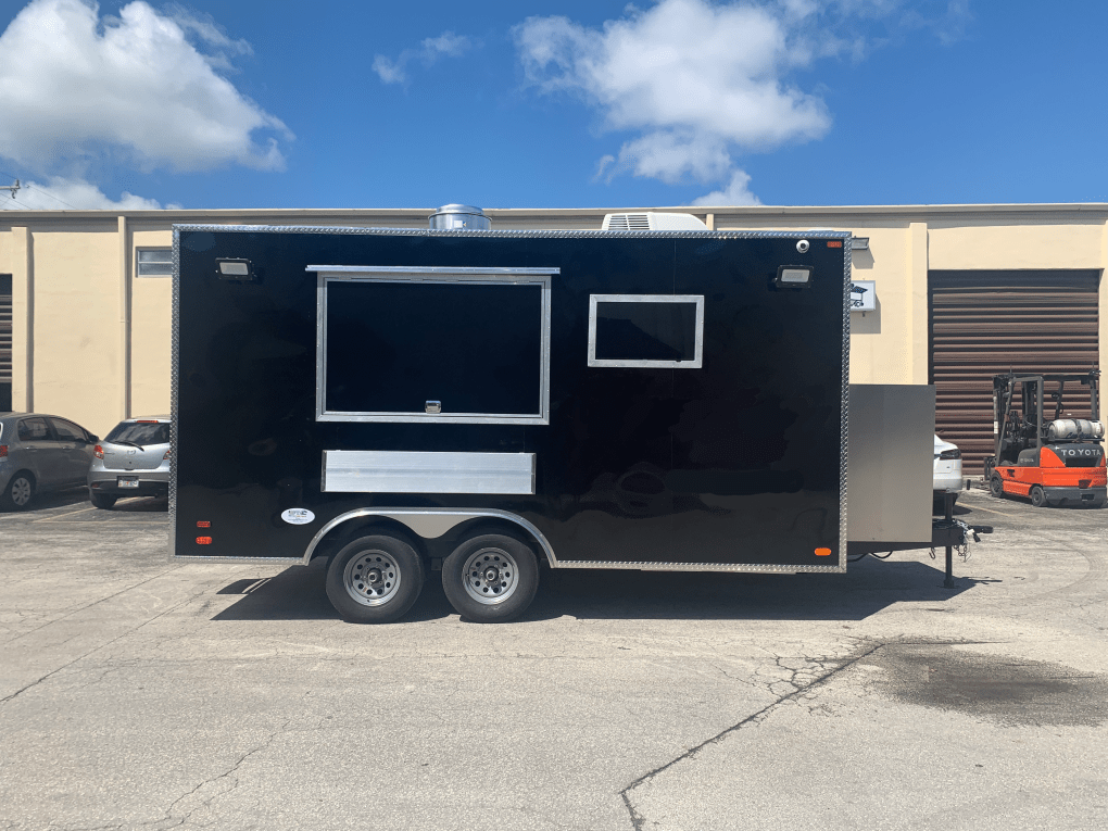 14 ft concession trailer black
