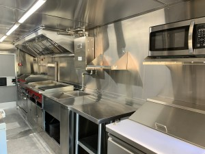 food truck kitchen inside