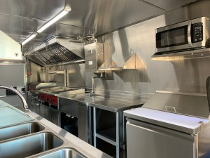 Kitchen for food truck stainless steel