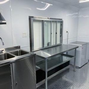 kitchen for a concession trailer at united food truck