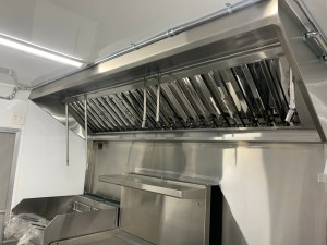 Vent Hood for kitchen trailer
