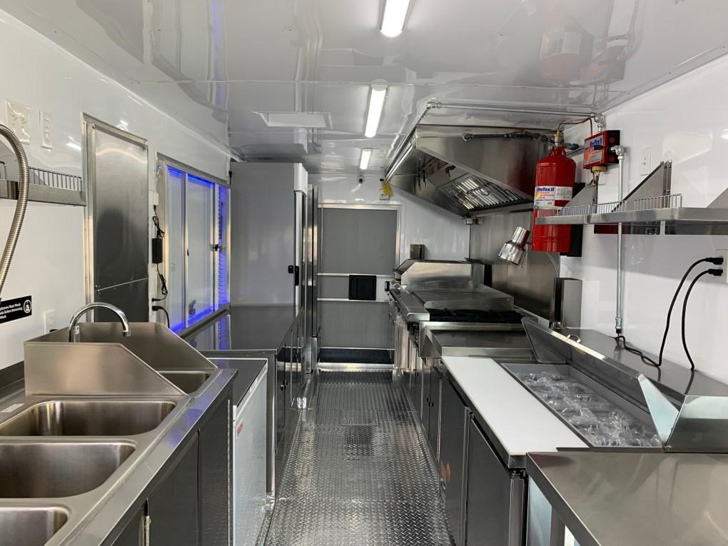 Lobstar Food Truck Kitchen inside