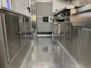 kitchen floor for a food truck
