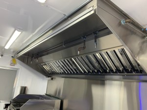 vent hood system for a food truck
