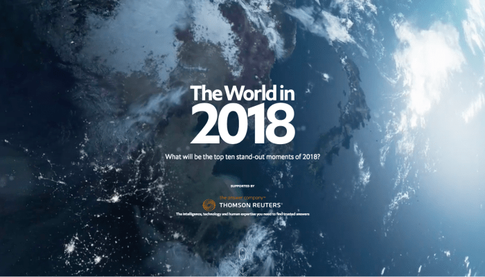 The Economist: The World in 2018