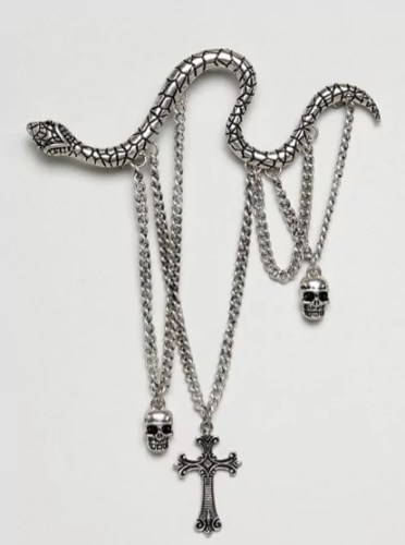 taylor swift reputation tour outfit ideas Reclaimed Vintage Inspired Snake Pin With Charms asos