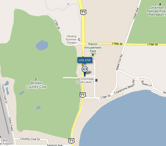 LOCATION INFO    United Community Bank of Milford UCB Okoboji Office ATM Map