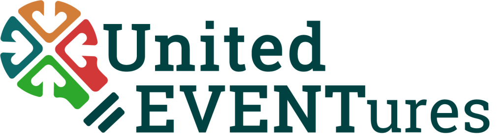 United EVENTures logo, logo, united eventures event planning, events, team building