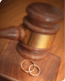 gavel and rings