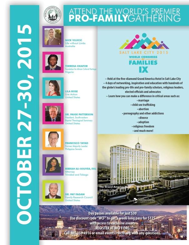 World Congress IX, Int'l flyer