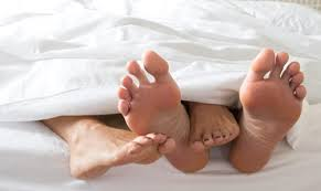 marriage feet in bed
