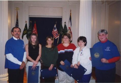 Gov Bob Wise with UFO volunteers