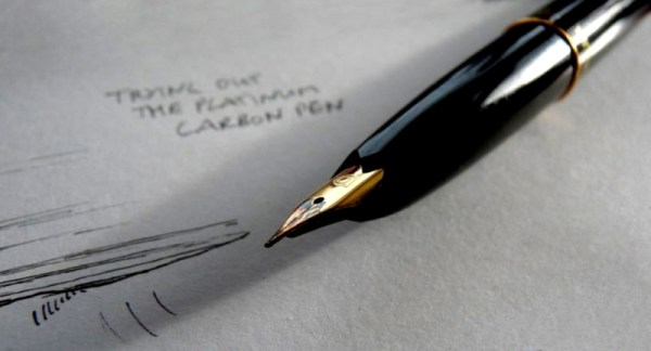 Carbon Pen in use