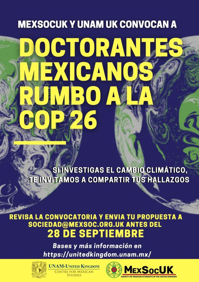 Convocatoria Doctorantes mexicanos rumbo a la COP 26