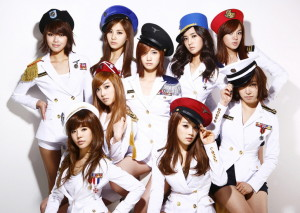 """SNSD in their famous """"Tell Me"""" Costume."""