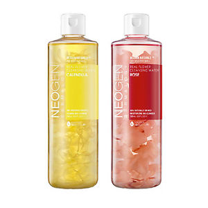 These cleansing waters from Neogen contain real flower petals so you can see what's being used in your cleanser!