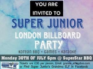 Super Junior, Billboard, Party, Event, London, Oxford Street