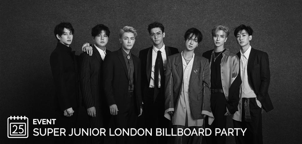 Super Junior, Event, London. Billboard, Party