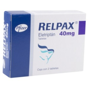 Buy Relpax 40mg - Eletriptan